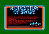A Question of Sport Amstrad CPC Title Screen