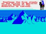 Doomdark's Revenge ZX Spectrum Mountains are slow to move through