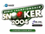 World Championship Snooker 2004 Windows Title Screen