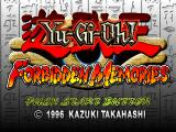 Yu-Gi-Oh!: Forbidden Memories PlayStation Title screen
