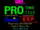 Jimmy Connors Pro Tennis Tour ZX Spectrum Loading screen