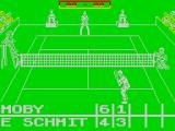 Jimmy Connors Pro Tennis Tour ZX Spectrum Current score of the match