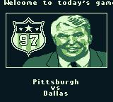 Madden 97 Game Boy Welcome to today's game between...