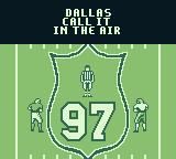 Madden 97 Game Boy Dallas, call it in the air