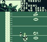 Madden 97 Game Boy A gain of 40 yards