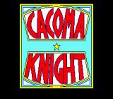 Cacoma Knight in Bizyland SNES Title Screen #1 (Game Logo)
