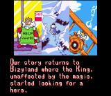 Cacoma Knight in Bizyland SNES The introduction, a King needs a hero