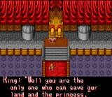 Cacoma Knight in Bizyland SNES An audience with the king