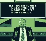 Madden 95 Game Boy Hi everyone! Welcome to Madden '95 Football!