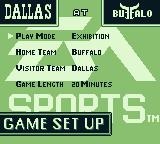 Madden 95 Game Boy Main menu
