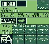 Madden 95 Game Boy Select your play