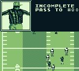 Madden 95 Game Boy The pass is incomplete