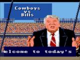Madden NFL 95 Game Gear Welcome to today's game between...