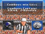 Madden NFL 95 Game Gear Cowbys win the toss
