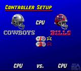 Madden NFL 95 SNES Select if you will be home or visitor for both players
