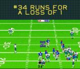 Madden NFL 95 SNES Ran for a loss on 1 yard