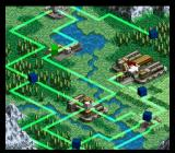 Front Mission: Gun Hazard SNES Each region is marked by a tactical map showing routes between areas