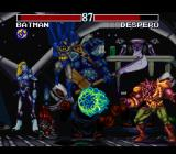Justice League Task Force SNES Desparo's energy ball fires on Batman