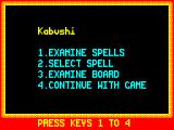 Chaos ZX Spectrum Menu
