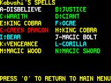 Chaos ZX Spectrum Spells available