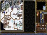 Heroes Chronicles: Masters of the Elements Windows The adventure map shows little change from the previous HoMM games