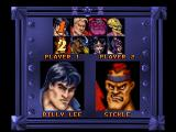 Double Dragon V: The Shadow Falls Jaguar In Vs Battle mode, it is 2 player so both players select a character