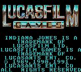 Indiana Jones and the Last Crusade: The Action Game Game Gear Title screen 2.