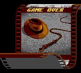 Indiana Jones and the Last Crusade: The Action Game Game Gear Game over.