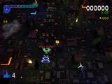 Galaga: Destination Earth PlayStation Earth Level Top Down - classic galaga formation