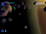 Galaga: Destination Earth PlayStation Saturn Level Top Down - More spirals
