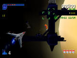 Galaga: Destination Earth PlayStation Saturn Level 3D - Spirals about to begin