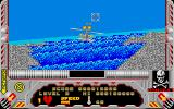 Hellfire Attack Atari ST Level 3 is over the water