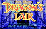 Dragon's Lair DOS Title Screen