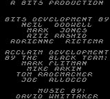Spider-Man: Return of the Sinister Six Game Gear Credits screen.