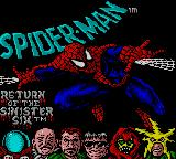 Spider-Man: Return of the Sinister Six Game Gear Title screen 2.