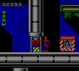 Spider-Man: Return of the Sinister Six Game Gear You'll have to break this door bu punching or shooting it, in order to continue.