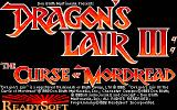Dragon's Lair III: The Curse of Mordread DOS Title screen (EGA)