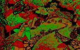 Dragon's Lair III: The Curse of Mordread DOS Gameplay (CGA)