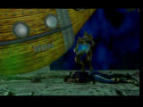 O.D.T.: Escape... or Die Trying PlayStation Cutscene - a monster is stealing the green pearl.