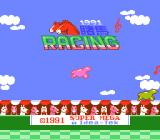 1991 Du Ma Racing NES Title screen with... bouncing jelly horses?
