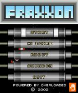 Fraxxon J2ME Title screen