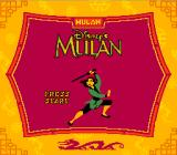Disney's Mulan Game Boy Title screen (Super Game Boy)