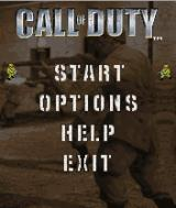 Call of Duty J2ME Main game screen
