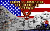 Harley-Davidson: The Road to Sturgis DOS Title Screen
