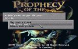 Prophecy of the Shadow DOS Character generation