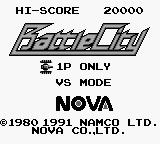 Battle City Game Boy Title Screen