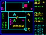 Rebelstar ZX Spectrum The green sentry droid is about to get blasted