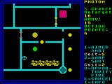 Rebelstar ZX Spectrum Firing mode - Only obstacles are shown. Aim up the crosshairs on your target.