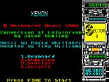 Xenon ZX Spectrum Credits and Control selection