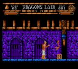Sullivan Bluth Presents Dragon's Lair NES Those snakes come out of the walls without any warning, Dirk must be alert.